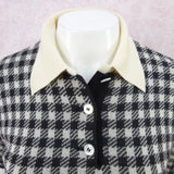 Vintage 90s BILL BLASS Cashmere Checked Polo Shirt, NOS