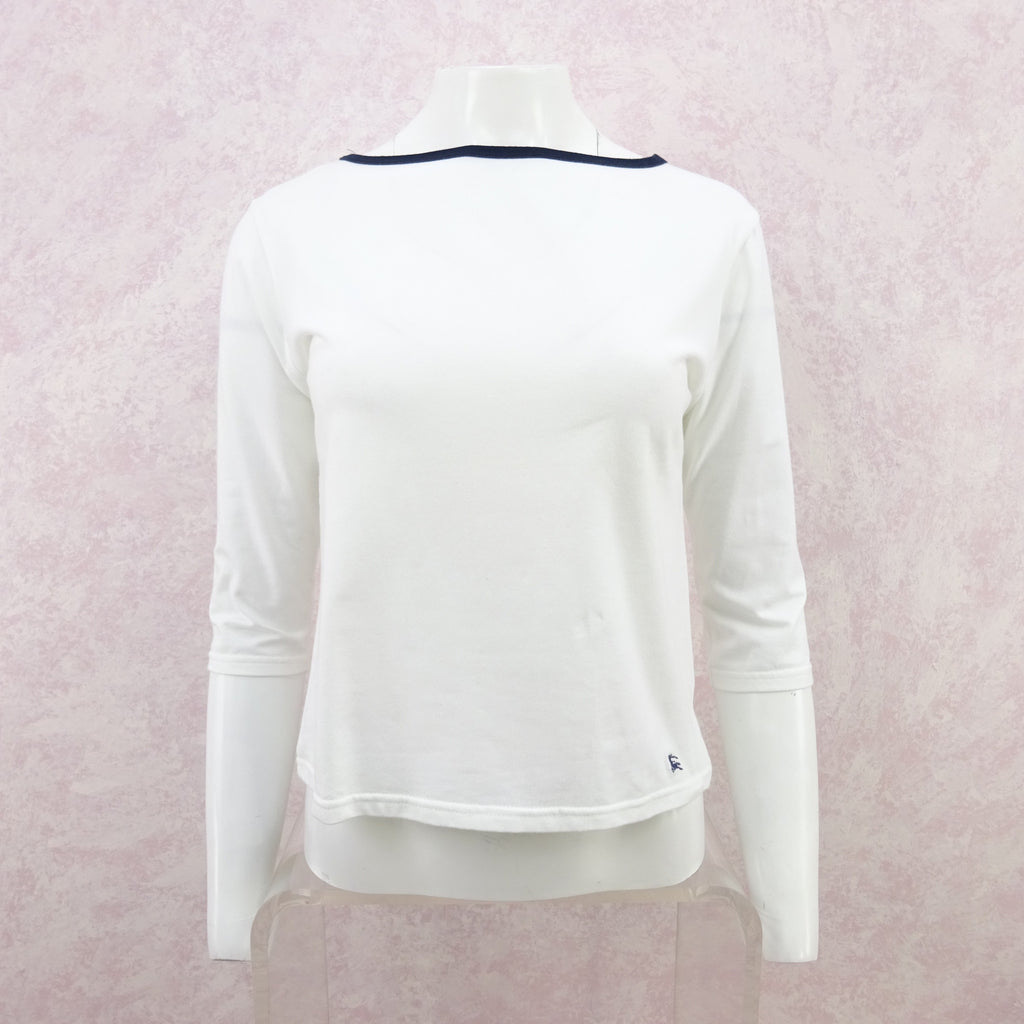 2000s BURBERRY Cotton Knit Boat Neck Top
