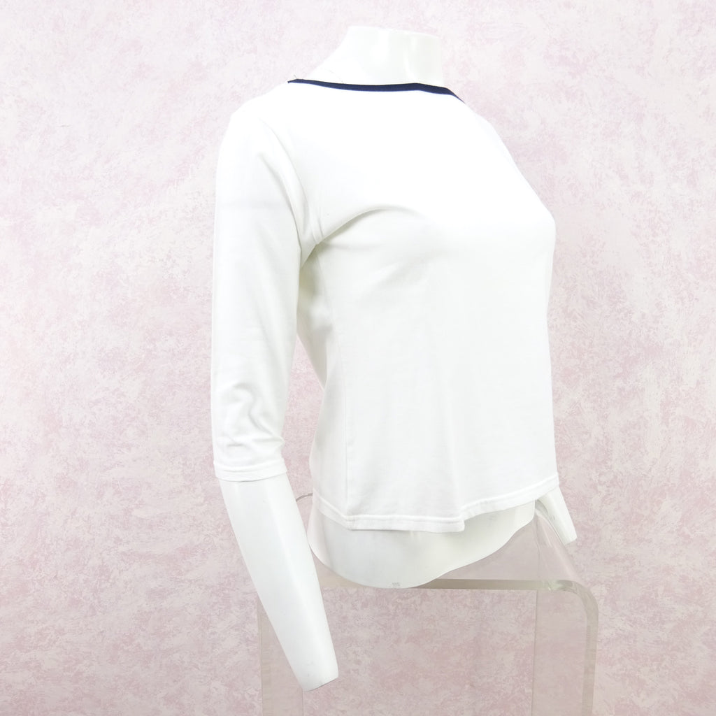 2000s BURBERRY Cotton Knit Boat Neck Top f