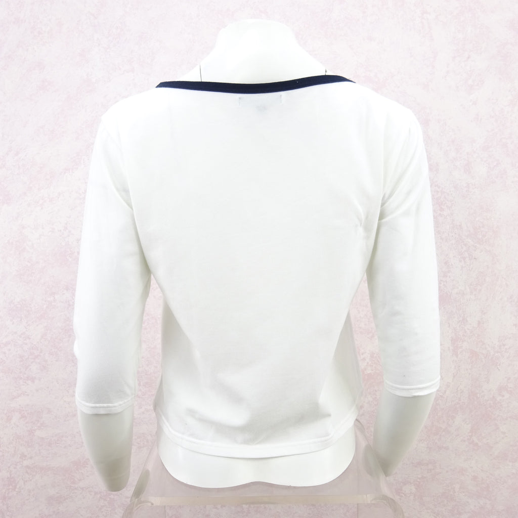 2000s BURBERRY Cotton Knit Boat Neck Top fds