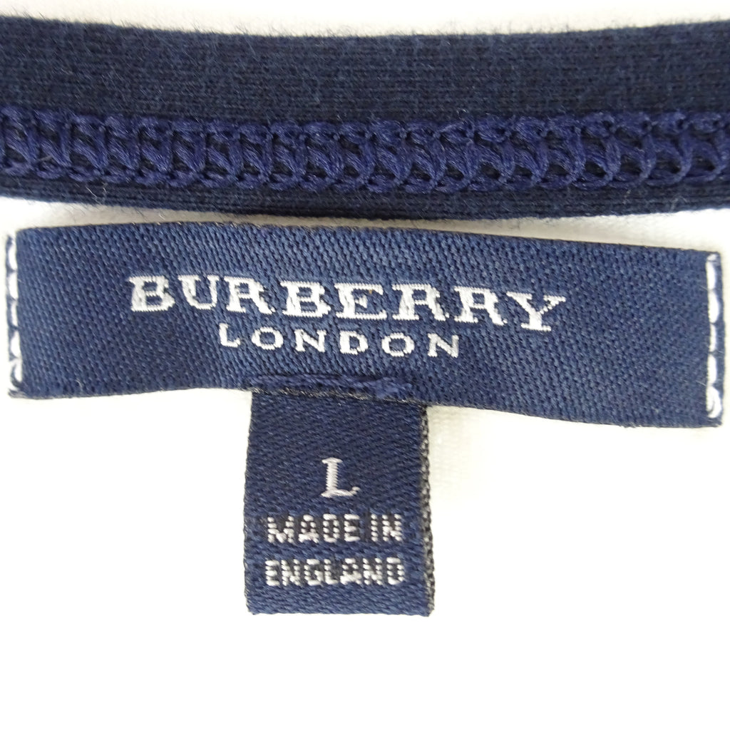 2000s BURBERRY Cotton Knit Boat Neck Top qw3rf