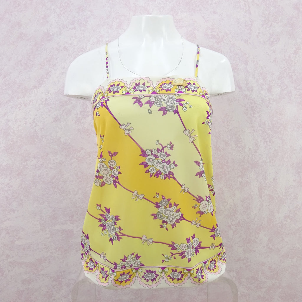 Vintage 70s PUCCI Floral Printed Nylon Camisole, NWT