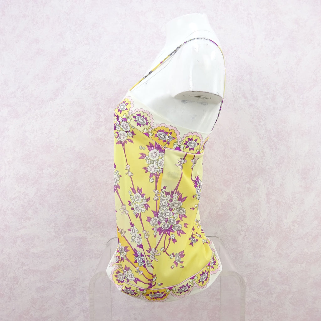 Vintage 70s PUCCI Floral Printed Nylon Camisole, NWT bg r