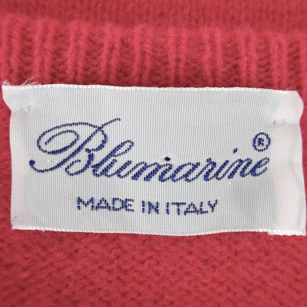 2000s BLUMARINE Wool Top w/Embroidered Logo, NOS jh