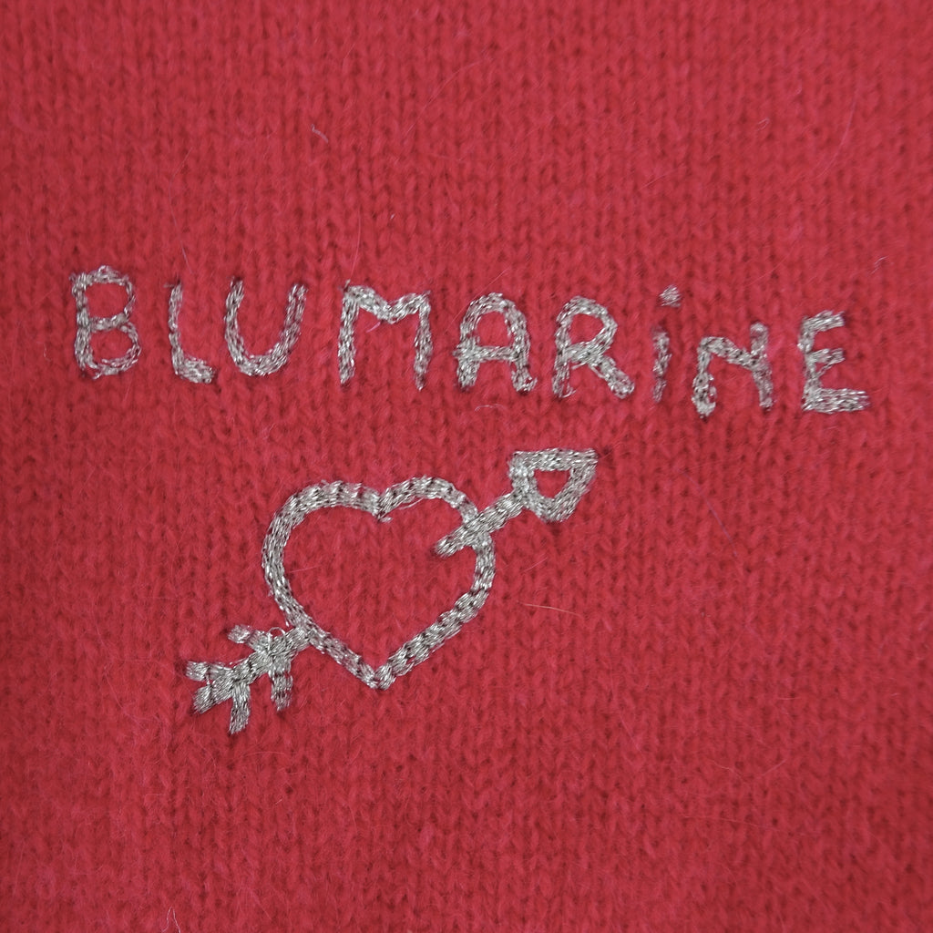 2000s BLUMARINE Wool Cardigan w/Embroidered Logo, NOS fdss