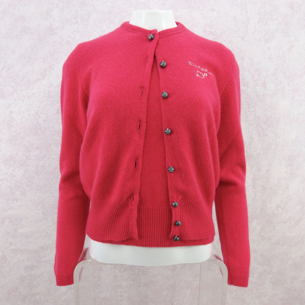 2000s BLUMARINE Wool Cardigan w/Embroidered Logo, NOS werf