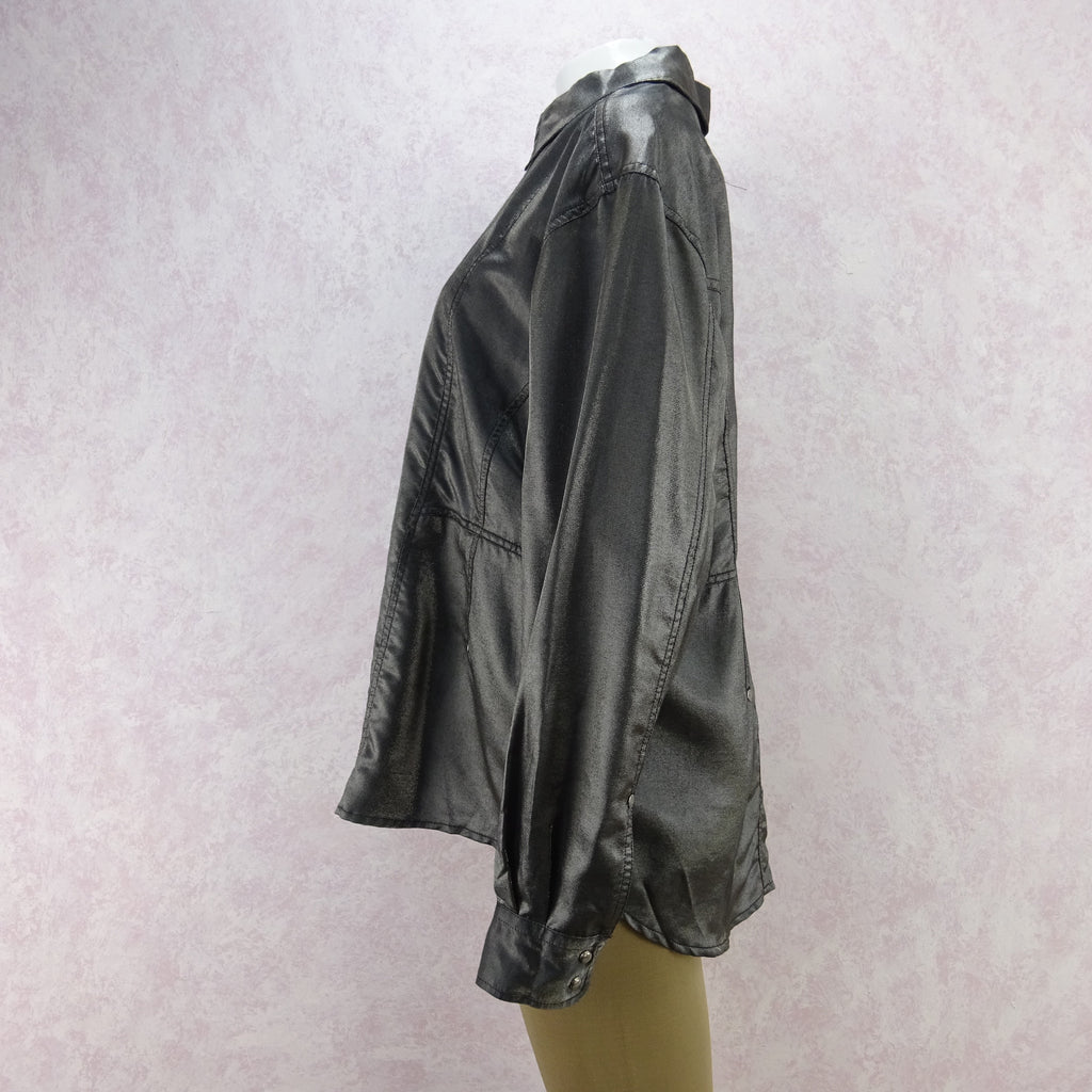 2000s JOOP Lightweight Metallic Zip-Front Jacket, NOS dsa
