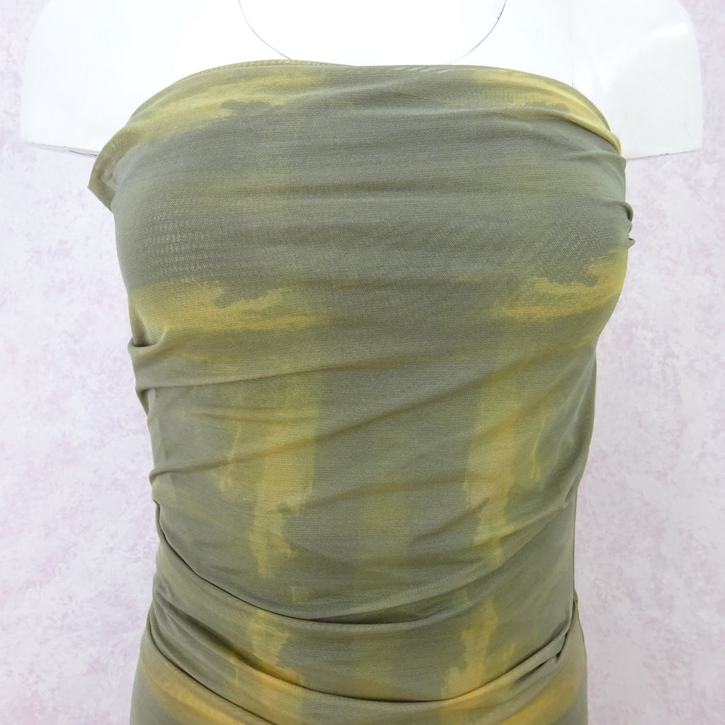2000s PLEIN SUD Stretch Strapless Dress, NOS vf
