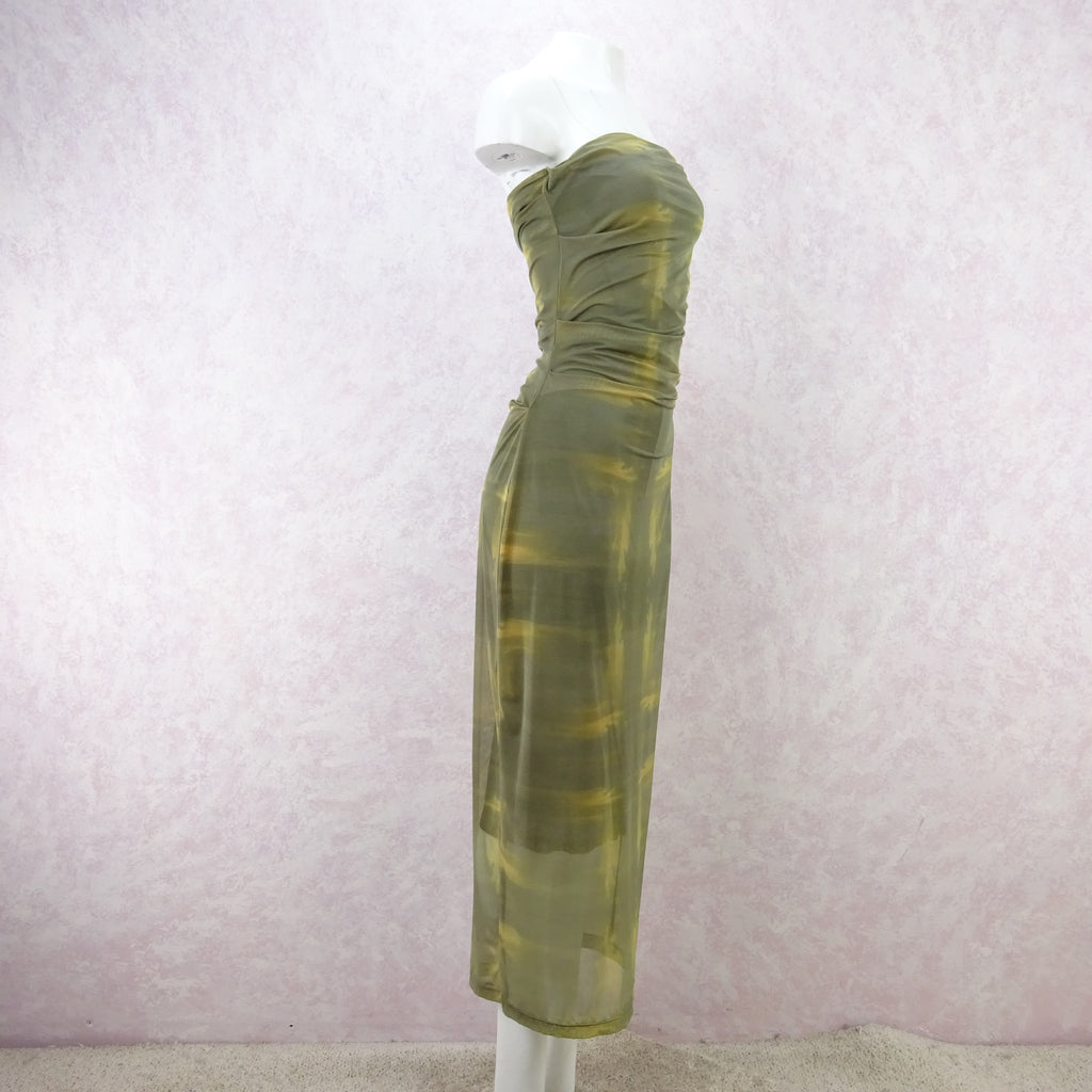 2000s PLEIN SUD Stretch Strapless Dress, NOS fd