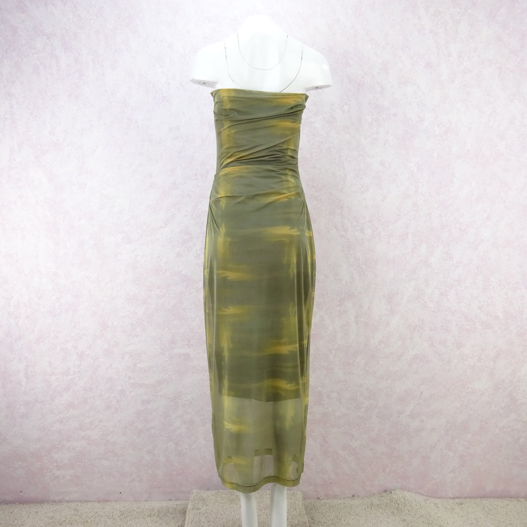 2000s PLEIN SUD Stretch Strapless Dress, NOS