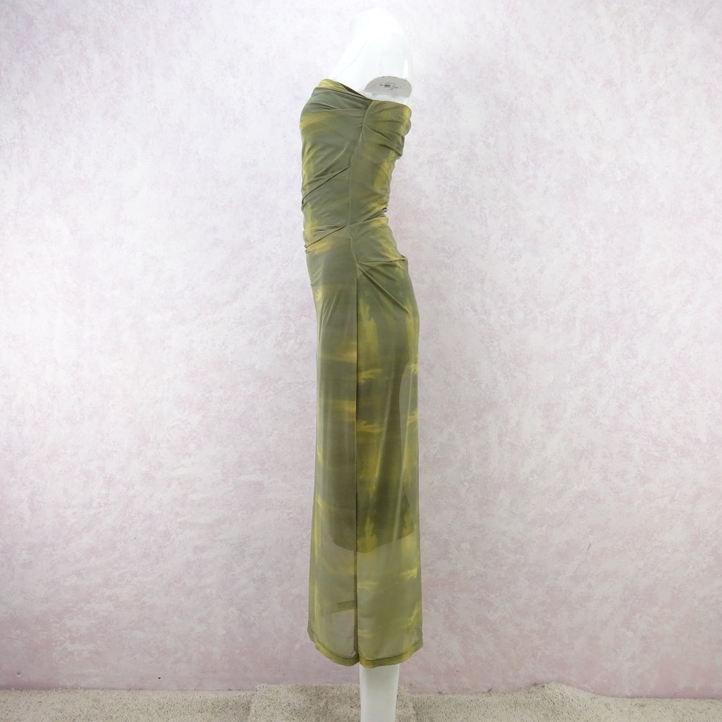 2000s PLEIN SUD Stretch Strapless Dress, NOS nhg