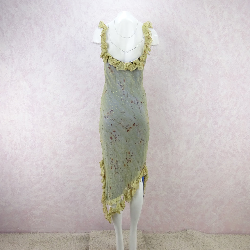 2000s ORDINARY PEOPLE Ethereal Bias Cut Dress, NOS  reshoot so color is gree