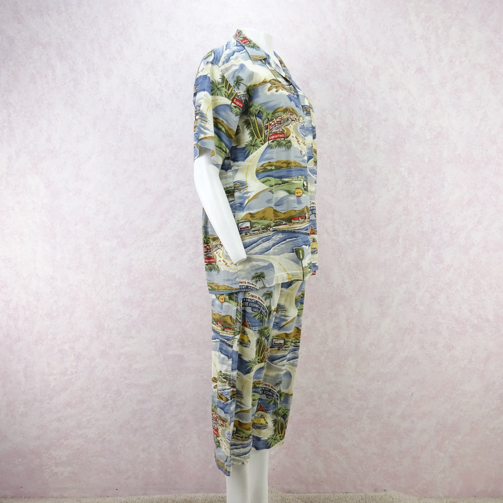 "Vintage 90s THEODORE ""California"" Print Outfit fd"