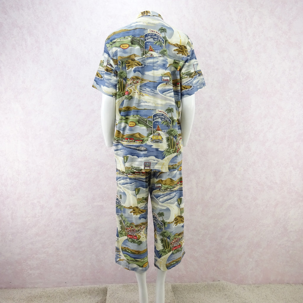 "Vintage 90s THEODORE ""California"" Print Outfit fdssa"