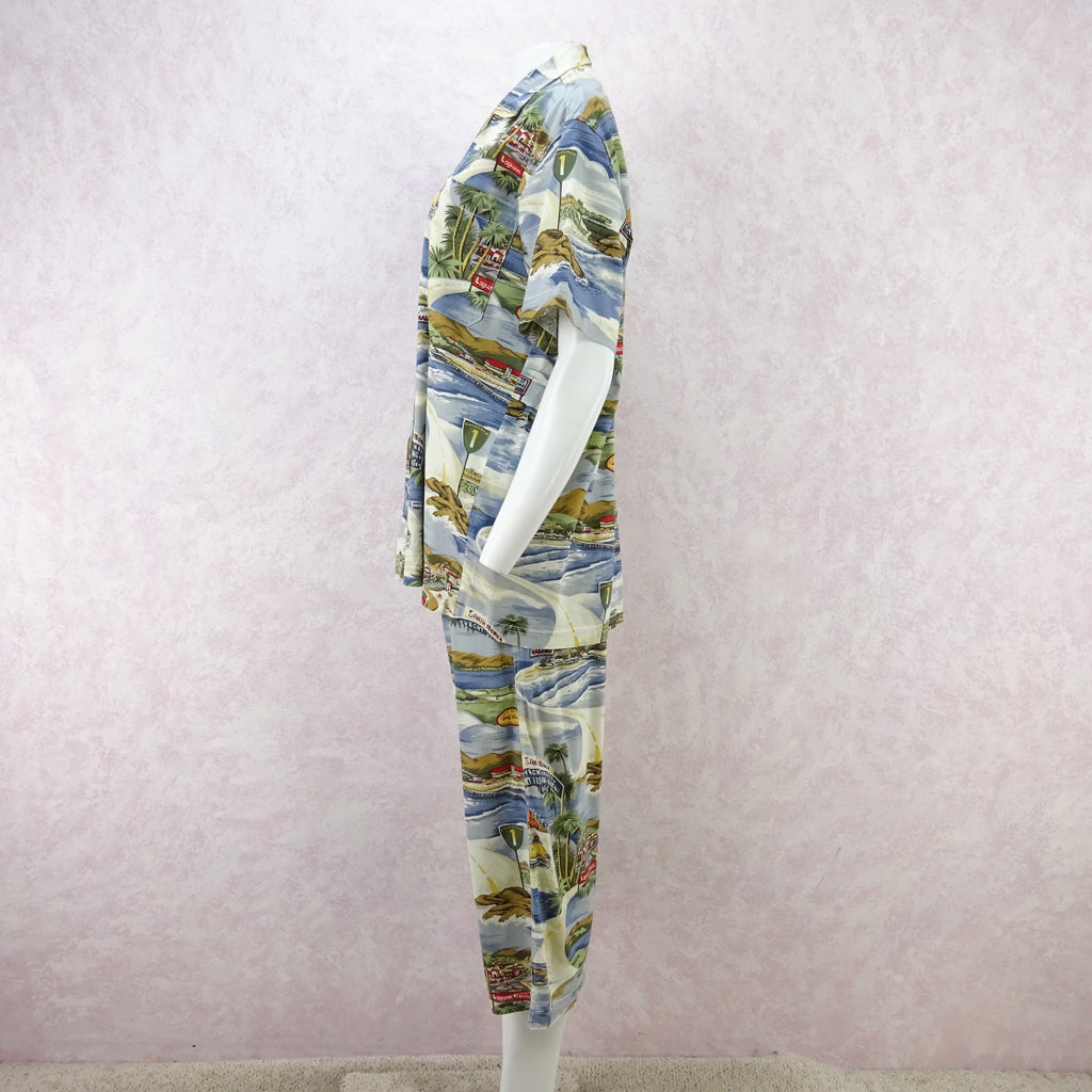 "Vintage 90s THEODORE ""California"" Print Outfit gtrewe"