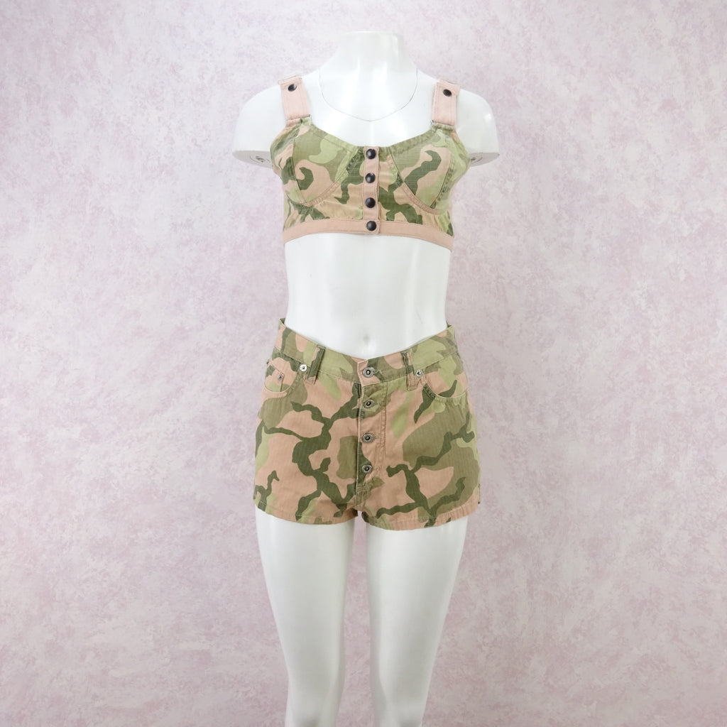 2000s Camouflage Cami / Shorts Outfit, NOS