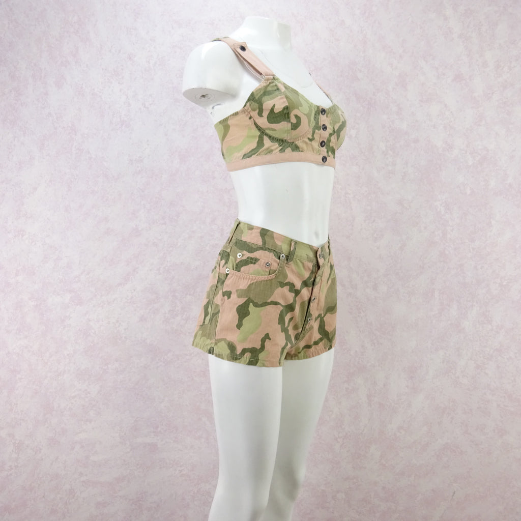 2000s Camouflage Cami / Shorts Outfit, NOS fdas