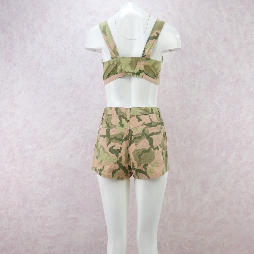 2000s Camouflage Cami / Shorts Outfit, NOS vf