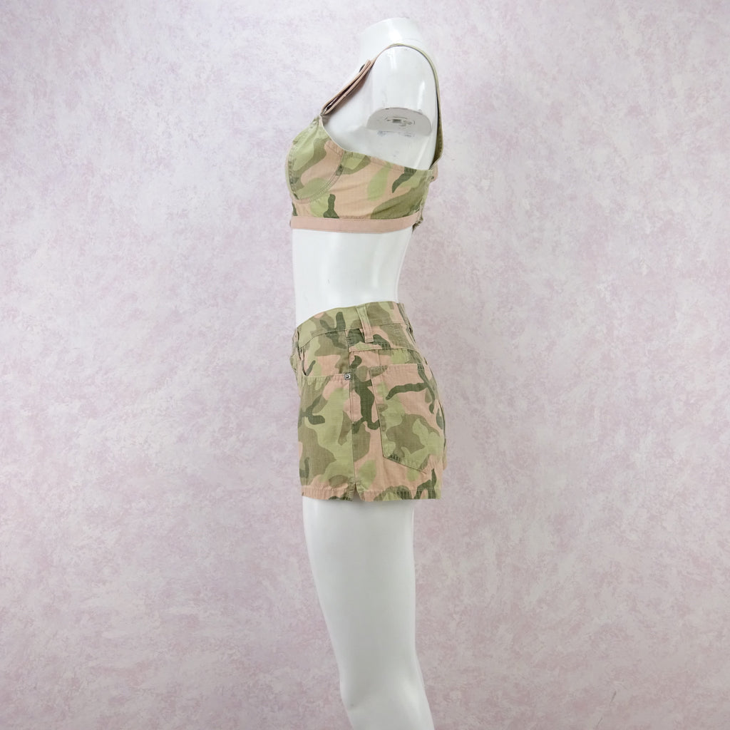2000s Camouflage Cami / Shorts Outfit, NOS ds