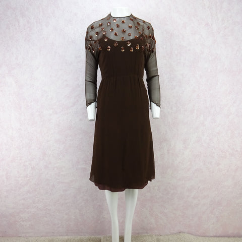 Vintage 70s Mexican Cotton & Lace Dress  SOLD
