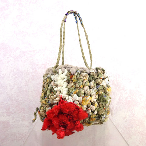 Vintage 60s Crochet & Beaded Clutch, NOS