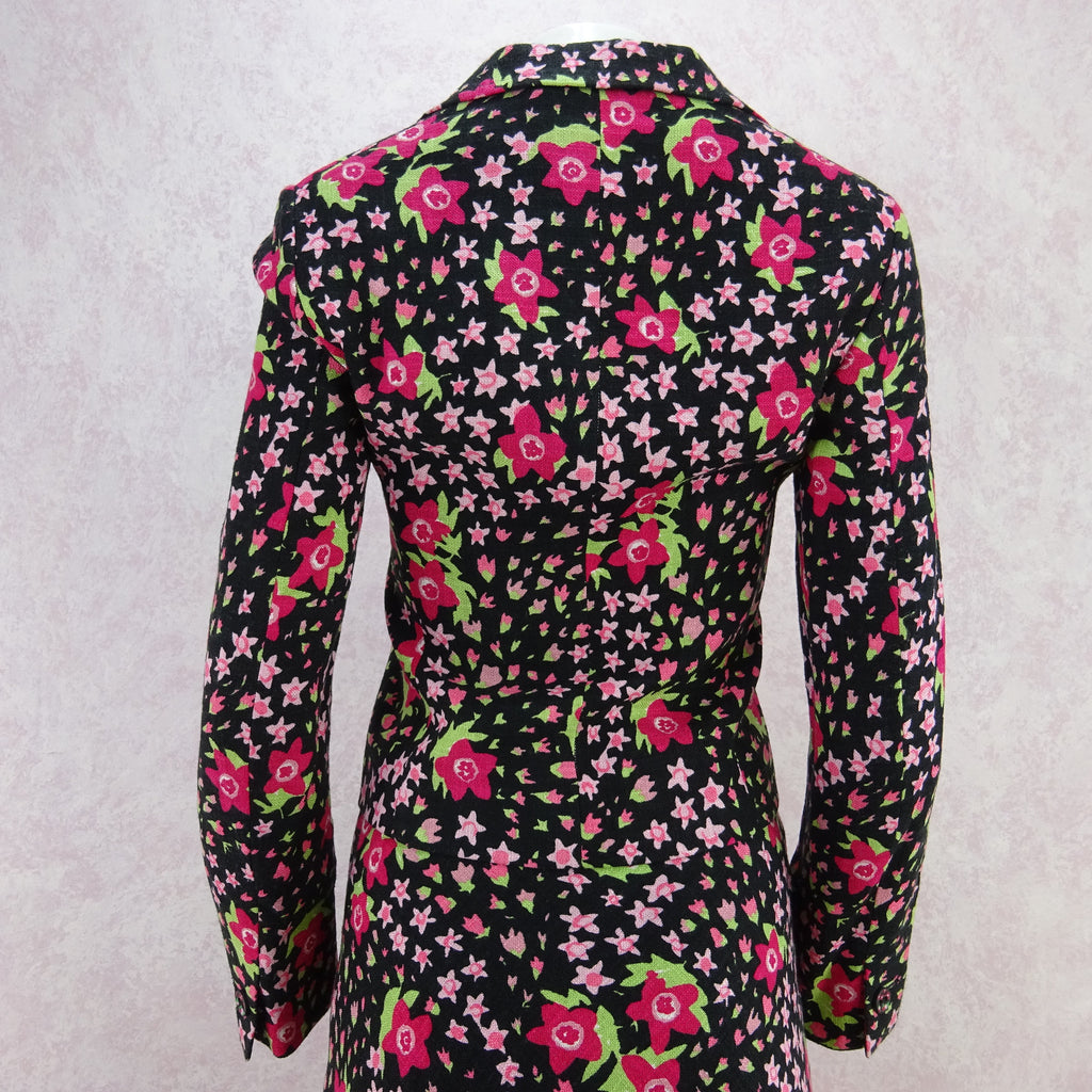 Vintage 90s MOSCHINO Floral Linen Cropped Jacket, NOS skdf