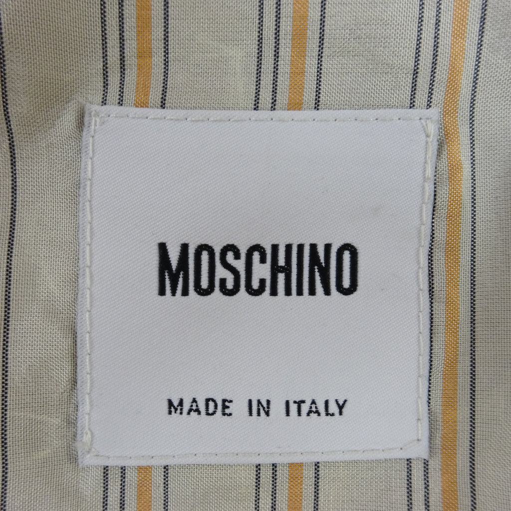 Vintage 90s MOSCHINO Pinstripe Jacket w/Surprise Back, NOS wqe