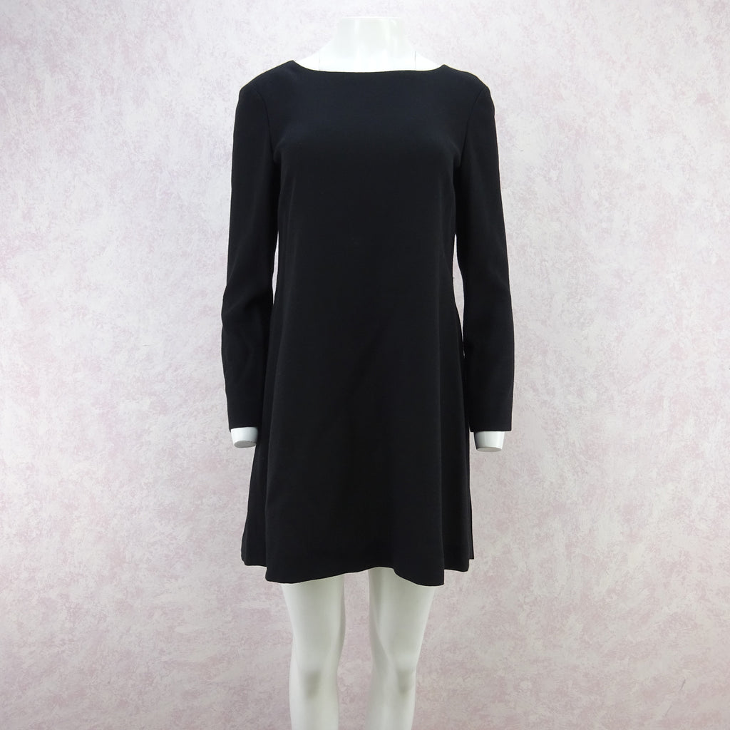 Vintage 90s MOSCHINO Wool Mini-Dress w/Pleat Back