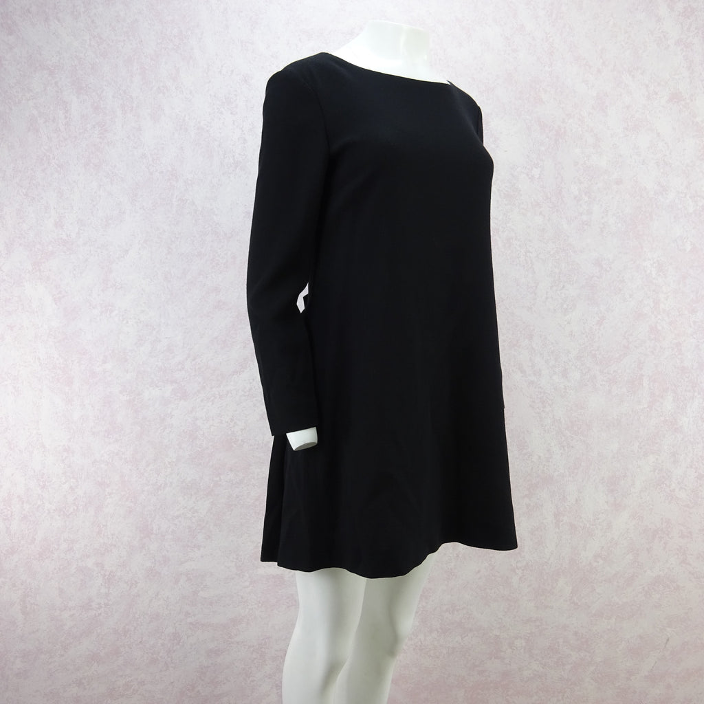Vintage 90s MOSCHINO Wool Mini-Dress w/Pleat Back f