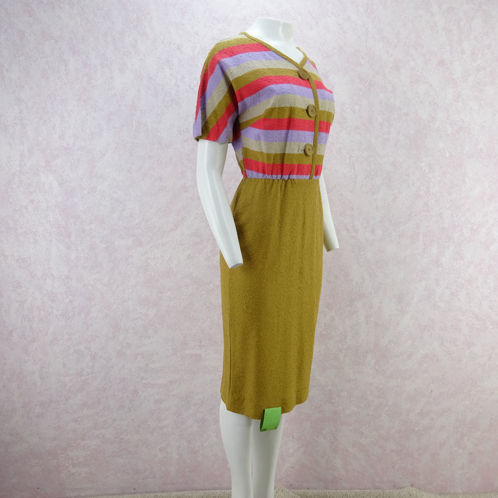 Vintage 60s KORET Nubby Cotton Knit Outfit, New Old Stock