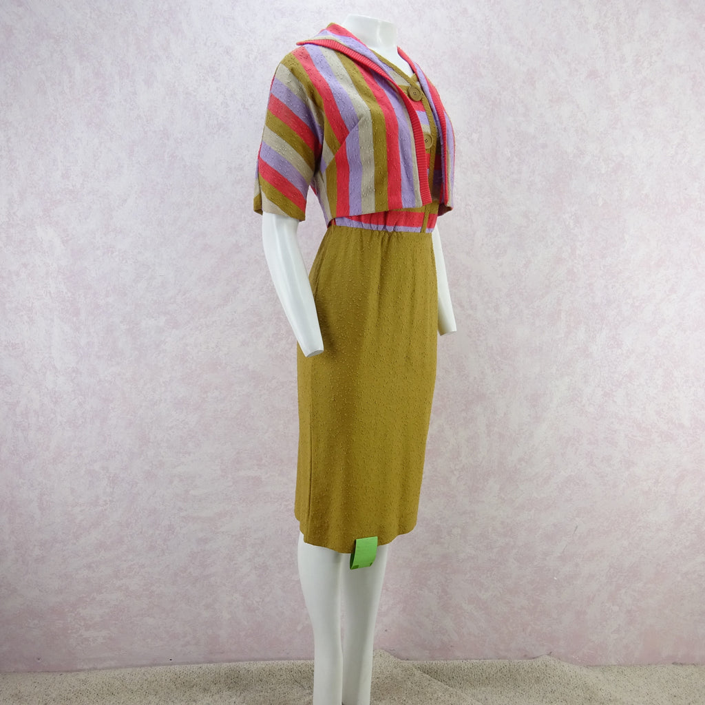Vintage 60s KORET Nubby Cotton Knit Outfit, New Old Stock bfff