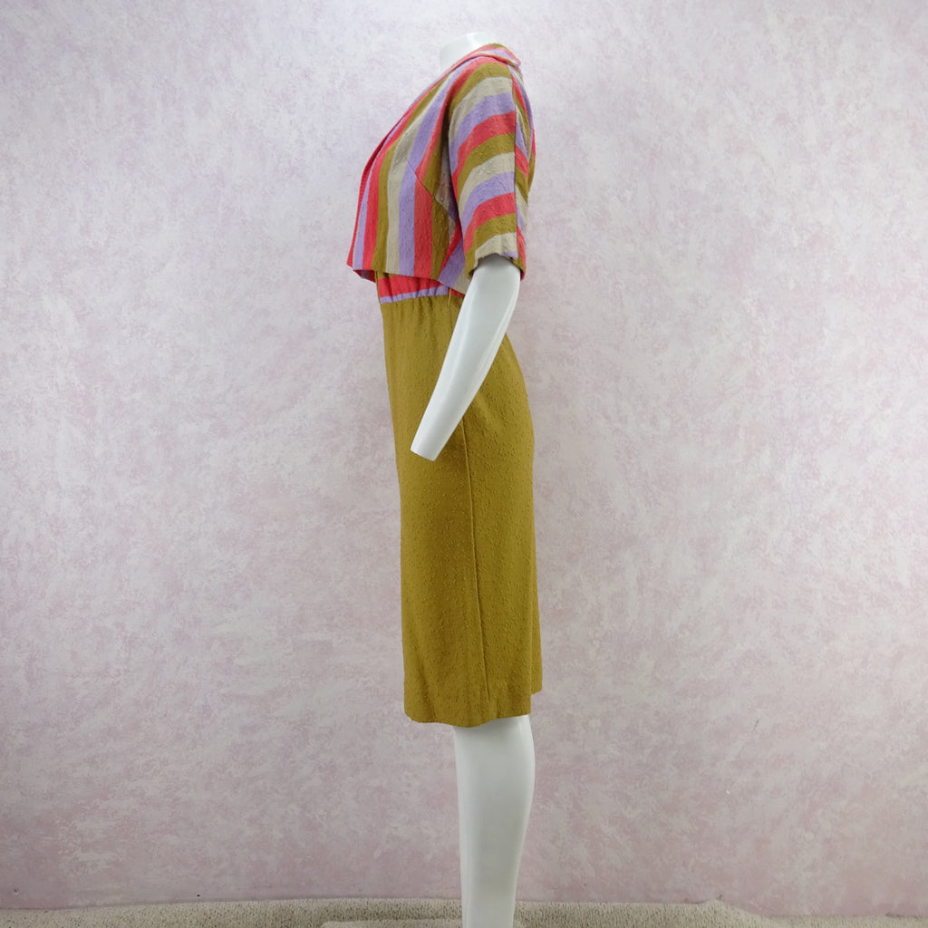 Vintage 60s KORET Nubby Cotton Knit Outfit, New Old Stock err