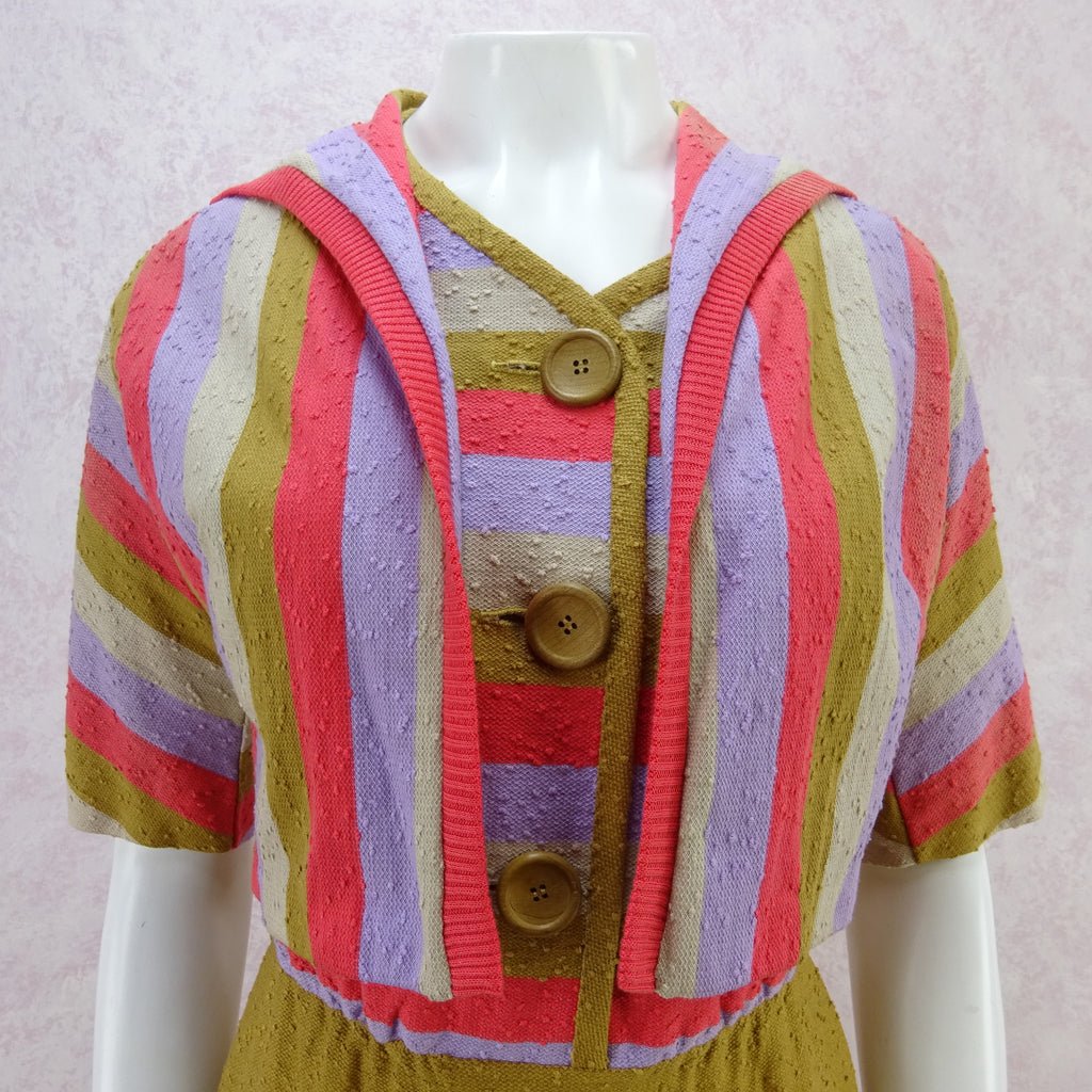 Vintage 60s KORET Nubby Cotton Knit Outfit, New Old Stock wr