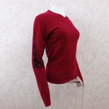 2000s A & G Cashmere V-Neck Pullover w/Cross in Back, NWTsd