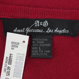 2000s A & G Cashmere V-Neck Pullover w/Cross in Back, NWTmm