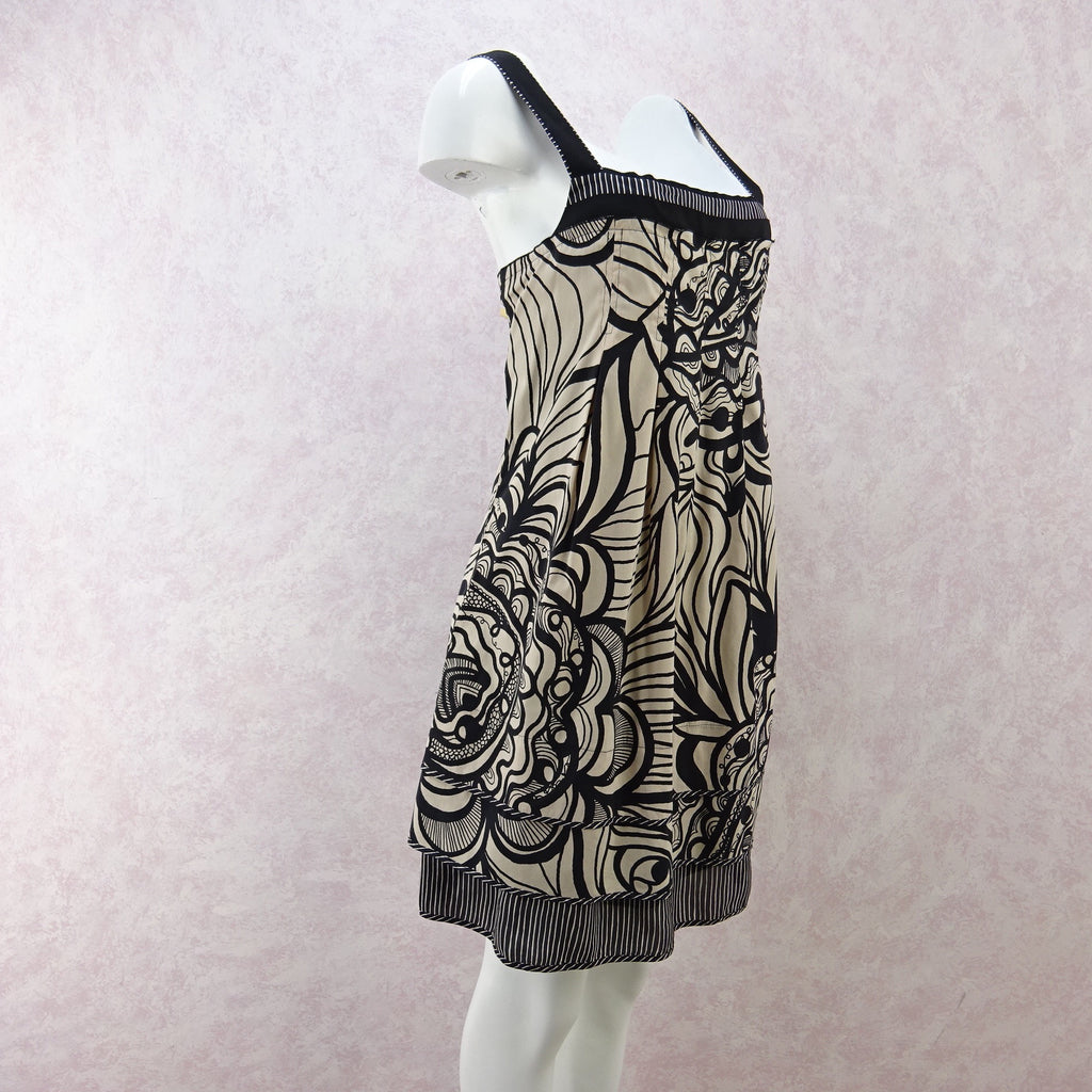 2000s BCBG Cotton Mixed Print Summer Dress, NWT b