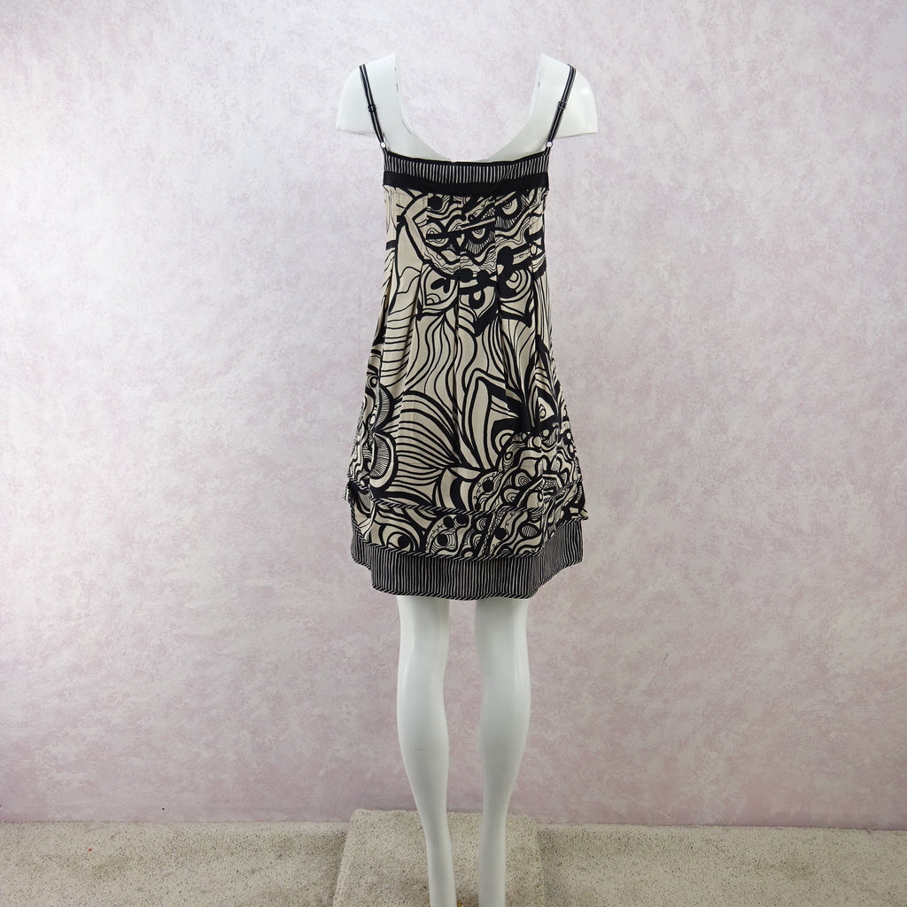 2000s BCBG Cotton Mixed Print Summer Dress, NWT f