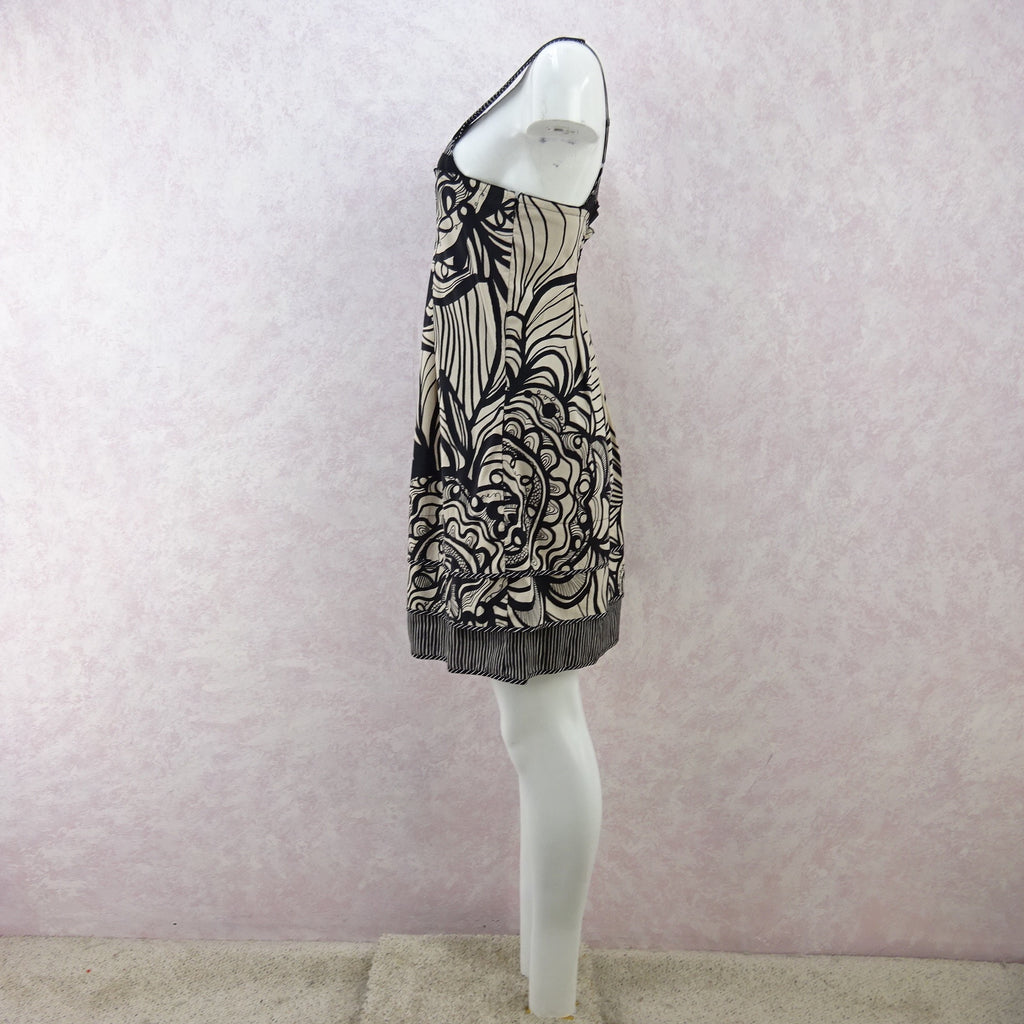 2000s BCBG Cotton Mixed Print Summer Dress, NWT n