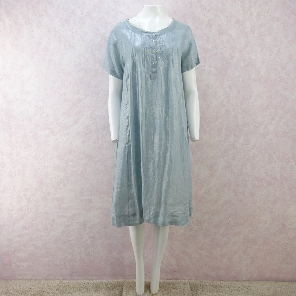 2000s DOSA Metallic Linen Summer Dress, NWT
