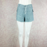 2000s THEODORE Over-Dyed Linen Shorts w/Side Hip Pockets, NOS