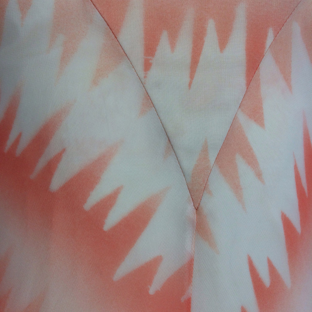 Vintage 70s Pseudo Tie Dye Maxi Dress, Detail