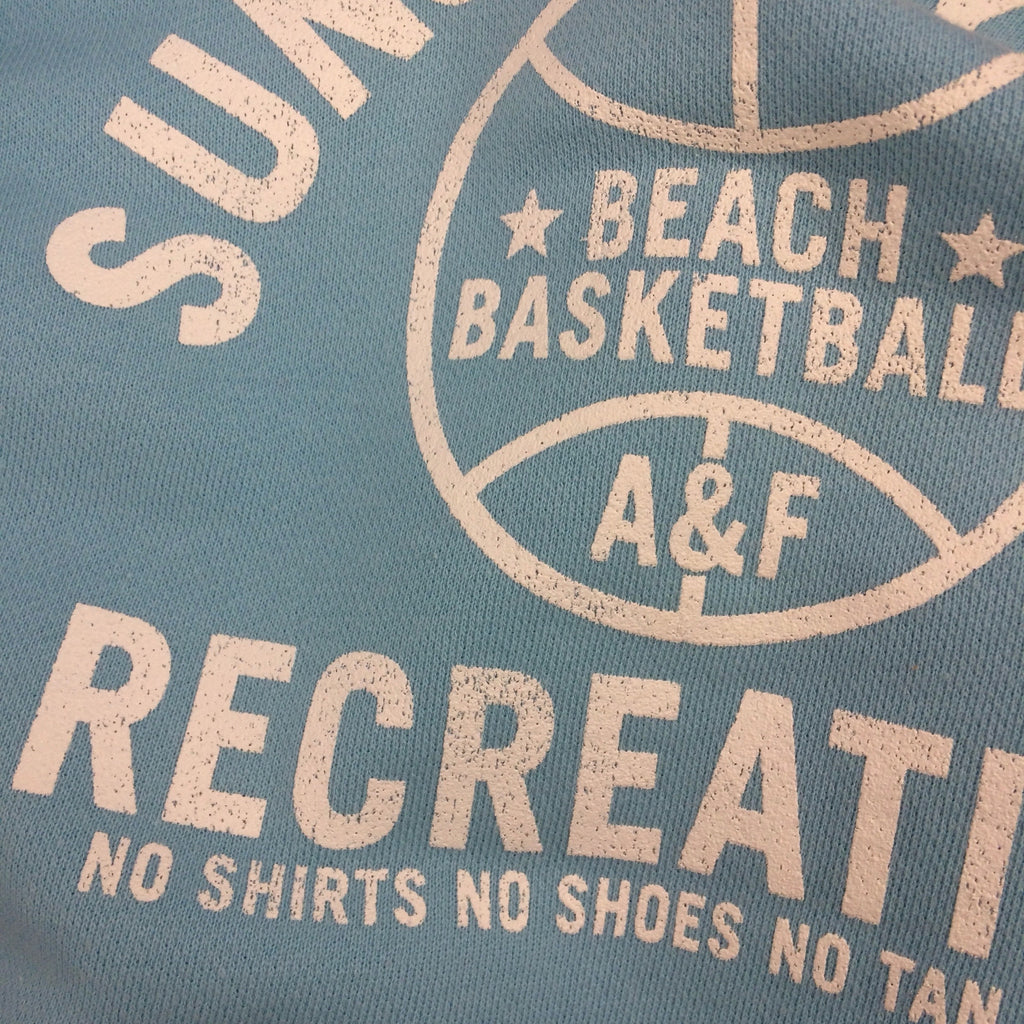 "2000s ABERCROMBIE & FITCH ""Sun & Fun"" Sweatshirt, Detail"