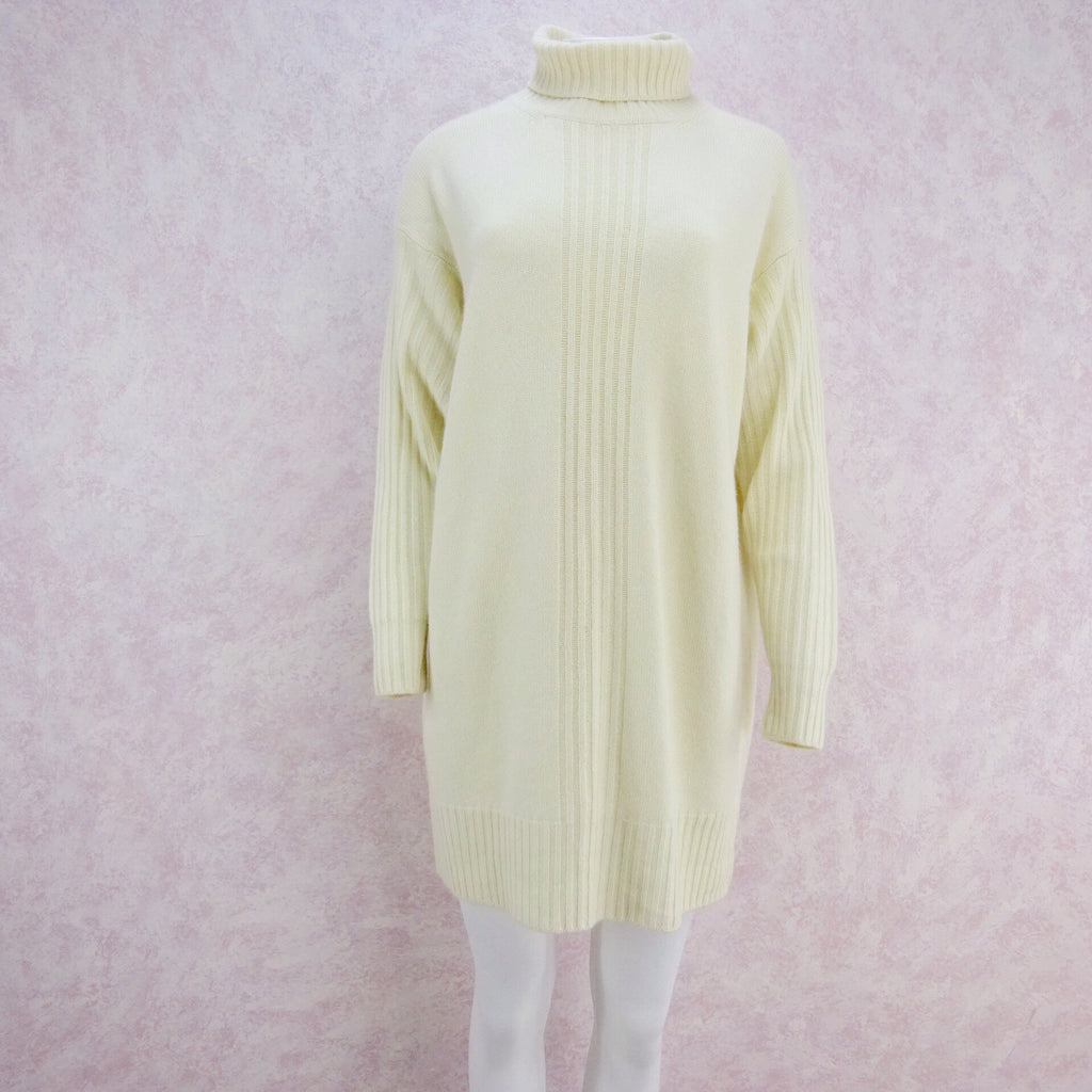 2000s Cashmere Knit Turtleneck Dress, Large NWT ff