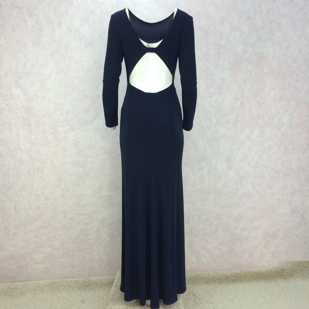 2000s A.B.S. Jersey Evening Gown w/ Sexy Back, B