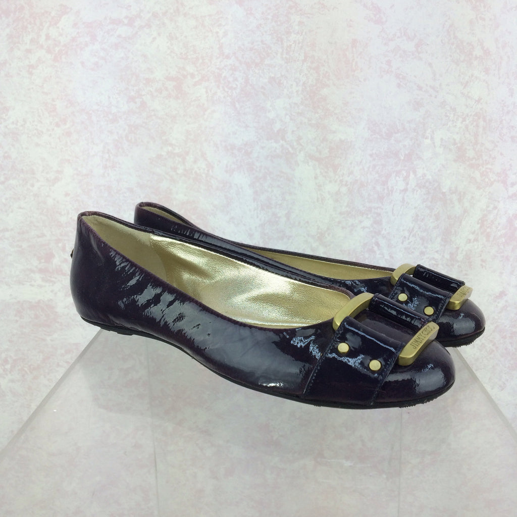 2000s JIMMY CHOO Patent Leather Ballerina Loafers, Side