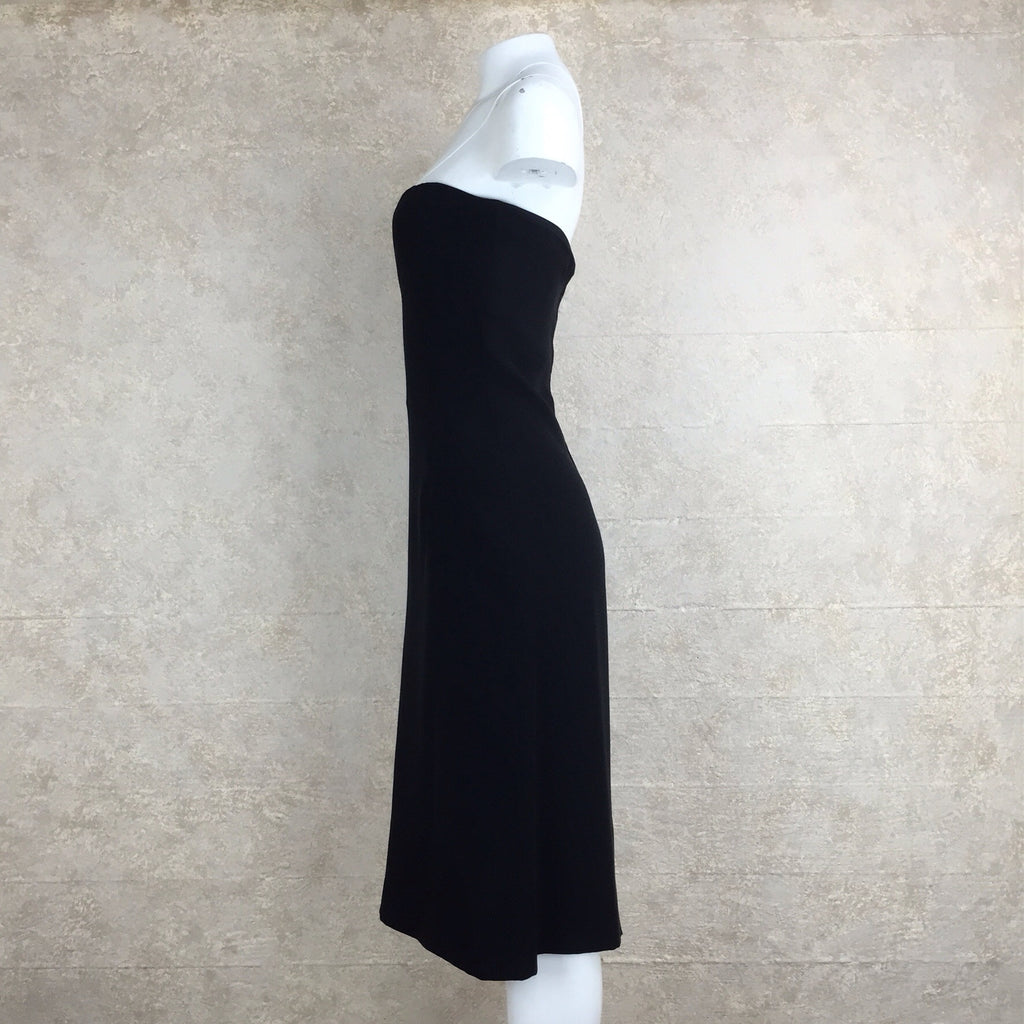 2000s Jean Louis Scherrer Black Strapless Dress side 2