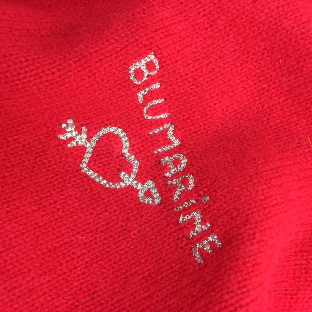 2000s BLUMARINE Knit Twinset, Red.  Detail