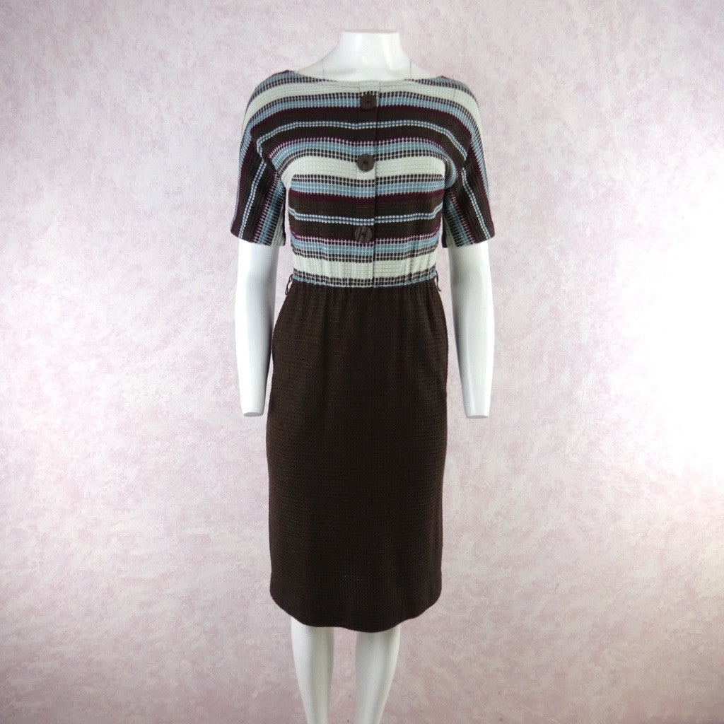 Vintage 60s KORET Cotton Knit Outfit- Dress & Cardigan, NOS
