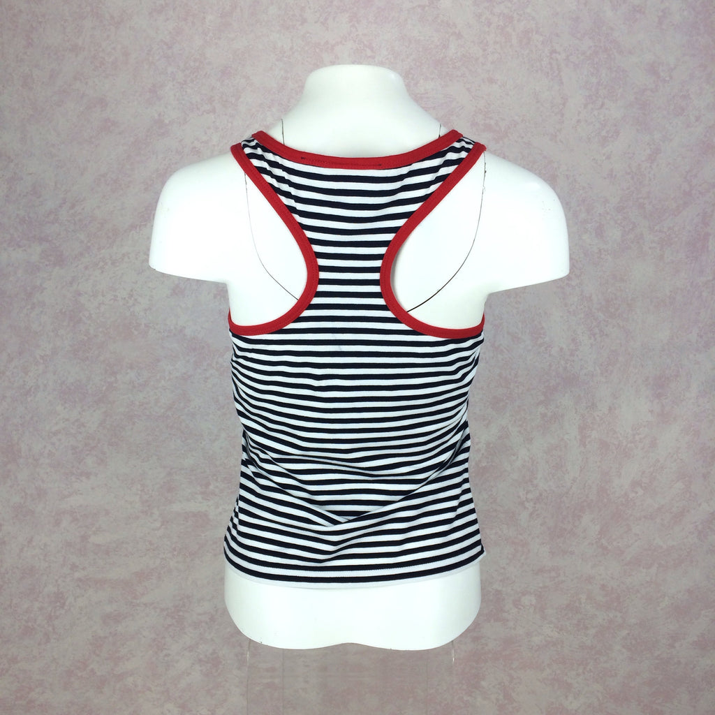 2000s DKNY Striped Tank Top w/Racer Back, Back