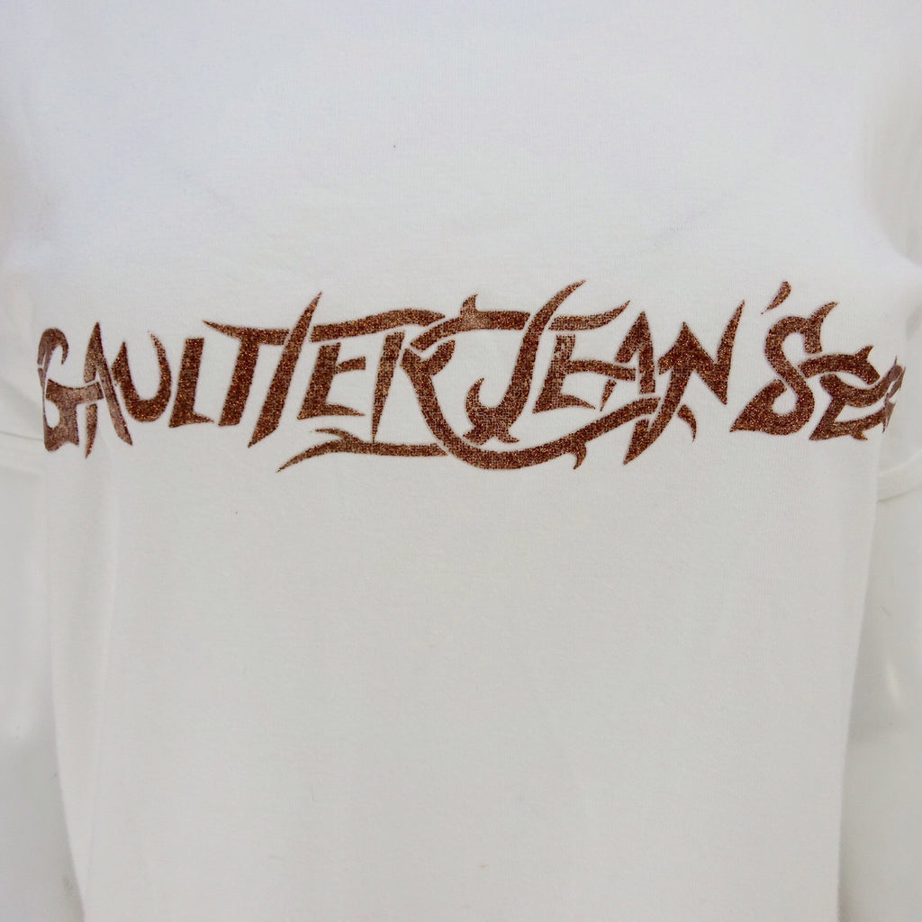 2000s GAULTIER JEANS T-Shirt w/Glitter Lettering, NOS f